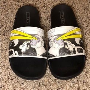 Prada - Unisex Yellow/Black Laser Monkey Slips